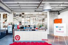 Content sharing service Pinterest has recently moved into a new office designed and executed in collaboration between First Office, All of the Above, and Schwartz and Architecture.