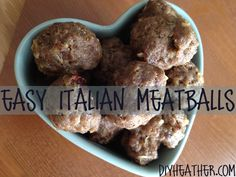 Easy Italian Meatballs Recipe - I made it with 1 egg instead of milk and I added two cups of chopped Kale