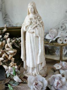 Antique French Saint Thérèse Religious Souvenir Figurine