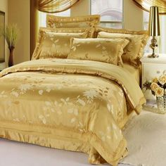 9dd314dacd2bc Aliexpress.com   Buy Luxury palace royal 60 s yarn satin silk floral  Jacquard King Queen size 4pcs bed sheet set TB2011 Express shipping from  Reliable silk ...