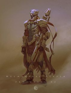 ArtStation - Reaper_02 & 01 (Mechanical reaper prototype), Hui Zou