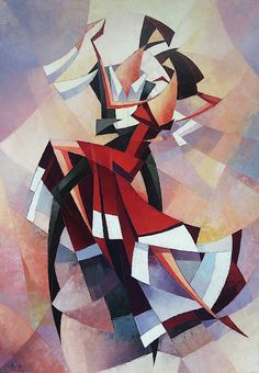 """Saatchi Art is pleased to offer the painting, cubism, oil painting),"""" by Narek Qochunc. Original Painting: Oil on Canvas. Size is 0 H x 0 W x 0 in. Arte Art Deco, Tango Art, Picasso Cubism, Dance Paintings, Cubist Paintings, Original Paintings, Arte Pop, Elements Of Art, Geometric Art"""