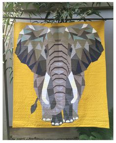 "The Elephant Abstractions Quilt - Foundation Paper Piecing Pattern - 54"" x 60"" Quilt - - PaperPiecedQuilting.com"