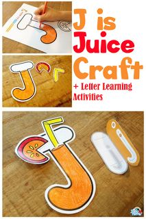 J is Juice Craft and Fun Letter Learning Activities with Badanamu …
