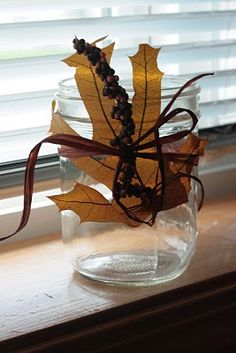 with candle inside would help illuminate leaf