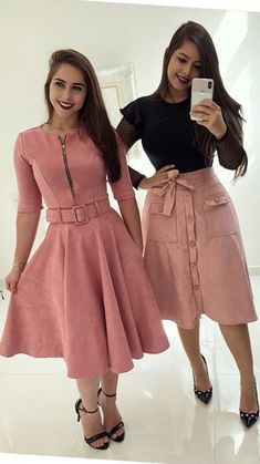Swans Style is the top online fashion store for women. Shop sexy club dresses, jeans, shoes, bodysuits, skirts and more. Trend Fashion, Cute Fashion, Modest Fashion, Fashion Dresses, Womens Fashion, Fasion, Skirt Outfits, Dress Skirt, Cute Outfits
