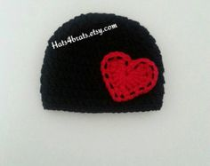 Baby Valentines Hat Valentine's Day Hat Crochet Baby by Hats4Brats