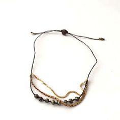 Pyrite Delicate Micro Gem Bracelet
