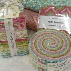 I just love this Hello luscious fabric from MODA.