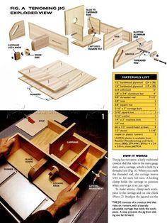 DIY Table Saw Tenon Jig - Joinery