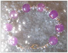 Handmade Silver Bracelet with Facetted Amethyst by IreneDesign2011