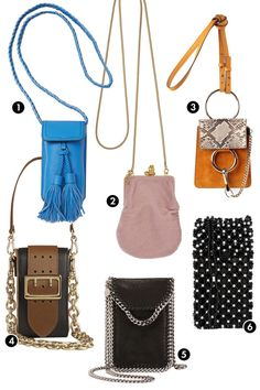Chloé, Burberry, and Rebecca Minkoff want you to be hands free this season with a cell phone cross-b. - Courtesy of Retailer Spring Bags, Latest Bags, Types Of Bag, Sexy Outfits, Rebecca Minkoff, Bucket Bag, Bag Accessories, Chloe, Burberry