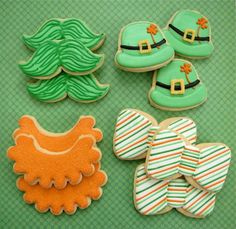 St. Patrick's Day cookies by Melissa Joy Fanciful Cookies