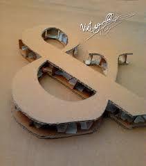 Resultado de imagen de como hacer letras de carton para bodas