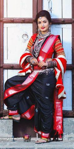 Marathi Saree, Nauvari Saree, Indian Beauty Saree, Diy Necklace, India Beauty, Bridal Looks, Beauty Women, Beautiful Women, Sari