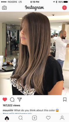 Light Brown Hair, Dark Hair, Blunt Hair, Dying My Hair, Long Layered Hair, Ombre Hair Color, Hair 2018, Gorgeous Hair, Healthy Hair