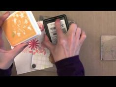 cardmaking video tutorial: Masking by Jennifer McGuire Ink ... luv how she uses bright flower stamping over a heart mask ...