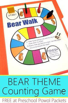 Fun science experiments and activities for a bear theme for preschoolers! Cute bear crafts, awesome bear science projects, STEM activities, and more! Bear Theme Preschool, Preschool Board Games, Free Preschool, Preschool Classroom, Preschool Worksheets, Preschool Learning, Classroom Activities, Counting Activities, Preschool Ideas