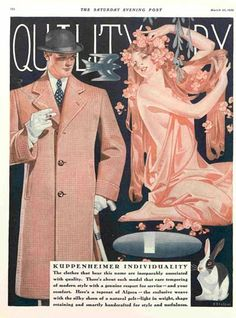 Kuppenheimer Advertisement March 1929.  It's got a bunny, it must be spring