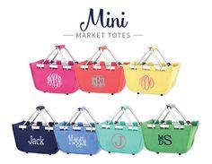 Personalized Easter Basket- Monogrammed Easter Basket- Monogrammed Market Tote- Quick Shipping