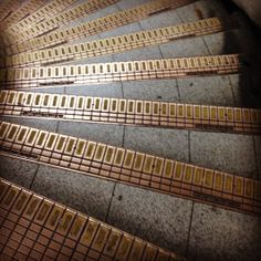 Just a few of the 78 steps in the Lancaster tube station.  I got to know these steps well. Lancaster Gate {London 2014}