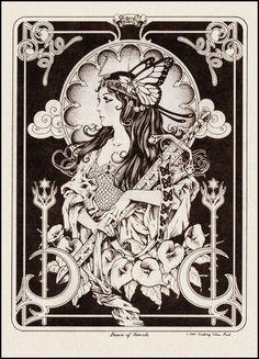Queen of Swords, by Frank Brunner