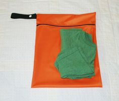 11x14 Orange Gender Neutral Reusable Wet Bag