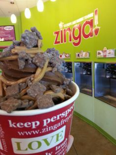 """Triple Chocolate Froyo Peanut Butter Chocolate Coated Waffle Bites! Tastes like frozen """"Puppy Chow"""""""