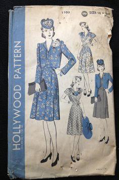 Vintage Pattern Hollywood 1103 War Era by momandpopcultureshop, $39.00