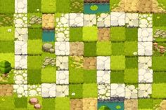 Elf Defense / Game concept art, 2011 on Behance 2d Game Art, Video Game Art, Game Environment, Environment Design, Game Design, Sprites, Hexagon Game, Piskel Art, Top Down Game