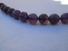 Genuine Amethyst-- round Loose Beads-- 10mm ---  10 beads, 1/3 strand