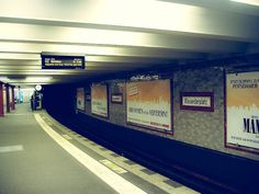 Subway in Berlin, Germany. Alexanderplatz.   Check out for more travel tips about Berlin!