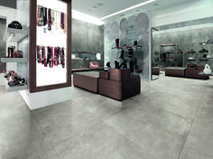 Porcelain stoneware flooring with concrete effect SKYLINE GHIACCIO by AVA Ceramica