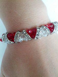 Valentines Day Swarovski Crystal bracelet.