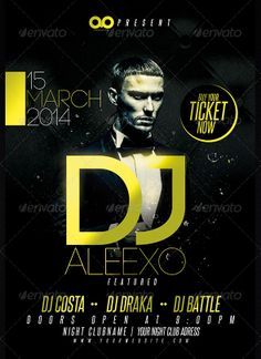 Guest Dj Club and Party Flyer Template…