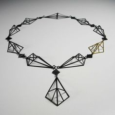 Katie LEES - from my Glasgow school of art degree show 09. They tell a story of the Clyde and it's prosaic landscape -  the 'crane' neckpiece. Here you can see how each segment has been engineered