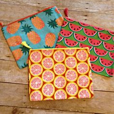 Monogram Fruit Jute Clutch - Personalized Wet Bikini Bag - Fits Most Tablets too!