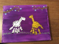 Zebra and giraffe handprints