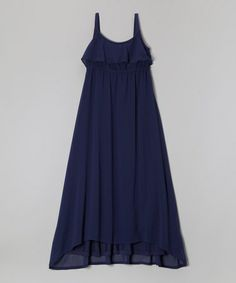 Another great find on #zulily! Indigo Chiffon Hi-Low Maxi Dress - Girls by Design History #zulilyfinds