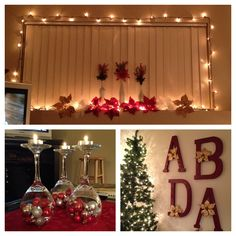 Some cheap and easy Christmas decorations for a college apartment.