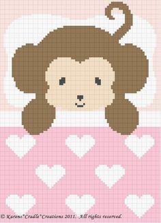 Crochet Patterns-Sweet Dreams Baby Girl Monkey Pattern