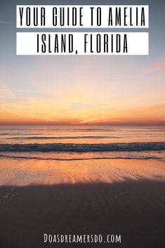 The Ultimate Guide to Amelia Island, Florida Hawaii Vacation Tips, Florida Travel Guide, Florida Vacation, Hawaii Travel, Travel Usa, Beach Vacations, Best States To Visit, Cool Places To Visit, Amelia Island Restaurants