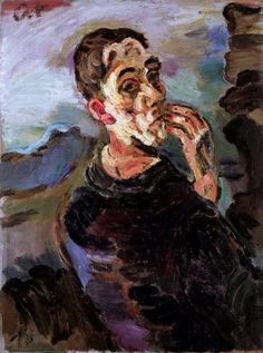 Self-Portrait with Hand by his face., 1919 by Oskar Kokoschka. self-portrait Expressionist Portrait, Expressionist Artists, European Art, German Expressionist, Self Portrait, Painting, Art, Expressionist, Oskar