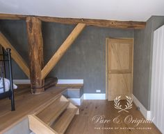 #Kalkverf / Lime Paint #limepaint color Thunder Sky. Project by http://www.nstyling.nl/