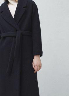 Manteau long en laine | MANGO