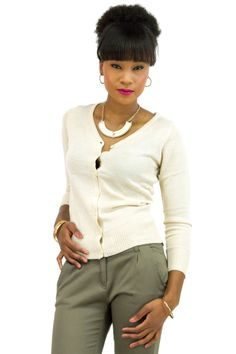V-Neck Button Down Knit Cardigan   Danice StoresShow your style smarts in this versatile cardigan! With a V-neck, buttoned front, a fine, soft knit with ribbed edges, this sweater will be your favorite wardrobe staple. This long sleeve cardigan is a perfect layering piece or wearing by itself as a pull-over.