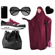 """Week-End with Hiyati <3"" by jilbabi on Polyvore Jilbab, Modest Wear, Islamic Clothing, Modest Fashion, Hijab Fashion, Beautiful Hijab, Hijab Outfit, Hijabs, Plus Size Dresses"