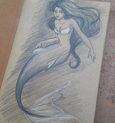 Mermay #mermay #Mermay #mermaid #sketch #croquis #kraft #artoninstagram