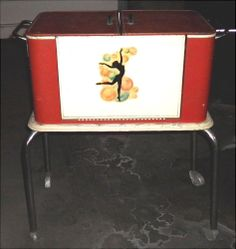ORIGINAL ART DECO  Nude Lady  red Bar Cooler box girlsauction2 on ebay  #art #sale