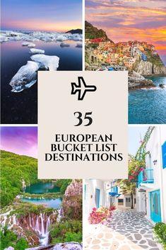 European Bucket List: 35 Things NOT To Miss When Traveling Europe - Europa - - verena Travel Through Europe, Europe Travel Tips, Traveling Europe, Europe Europe, Italy Travel, Travelling, Travel Abroad, Travel Goals, Travel Hacks